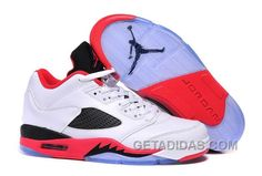 """http://www.getadidas.com/2017-air-jordan-5-low-fire-red-white-fire-redblack-authentic-imtqdk.html 2017 AIR JORDAN 5 LOW """"FIRE RED"""" WHITE/FIRE RED-BLACK AUTHENTIC IMTQDK Only $91.00 , Free Shipping!"""