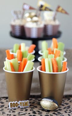 Fun Football Party Ideas and Free Printables. Great Super Bowl Party ideas. LivingLocurto.com