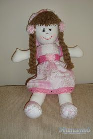 Munamó: Step by step a rag doll Sewing Doll Clothes, Sewing Dolls, Doll Videos, Doll Patterns Free, Baby Doll Accessories, Doll Tutorial, New Dolls, Soft Dolls, Baby Crafts