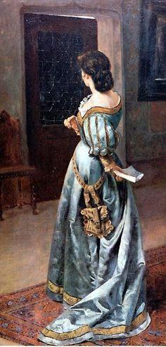 """Pedro Lira Rencoret (Chilean, 1845-1912), """"Carta de amor"""", Museo Nacional de Bellas Artes, Santiago de Chile"""