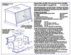 Build your own solar, insulated watering trough for livestock.