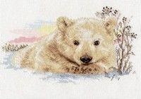 Схема вышивки крестом  «Северный медвежонок»