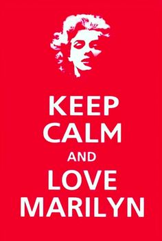 Keep calm love Marilyn  red