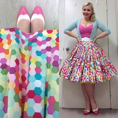 Retro Fashion Now THOSE are pretty pleats! Retro Fashion 50s, Rockabilly Fashion, Vintage Fashion, Rockabilly Girls, Rockabilly Style, Pin Up Outfits, Trendy Outfits, Spring Outfits, Cute Outfits