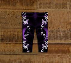 Purple Butterfly Swirl Baby Leggings baby girl by FarrellFineArt