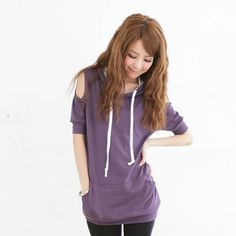 Buy 'eFashion – Cut-Away Sleeve Hoodie' at YesStyle.com plus more Taiwan items and get Free International Shipping on qualifying orders.