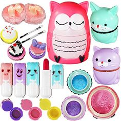 Joyin Toy All-in-one Girls Makeup Kit Including 4 Lip Balms, 3 Lip Gloss, 2 Shimmer Powders/Eyeshadow, and 1 Large Blush. in Makeup. Girls Makeup Set, Kids Makeup, Makeup Toys, Barbie Makeup, Games For Girls, Toys For Girls, Kids Girls, Diy Gifts, Best Gifts