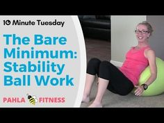 10 Minute Beginner STABILITY BALL HIIT Workout for Sleek ABS and Unstoppable CORE STRENGTH - YouTube