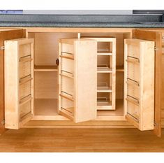 Swing Out Complete Pantry System, Rev-a-Shelf Series-Swing Out Single Units - Kitchen Organization - Cabinet Organization - Cabinet Hardware - Hardware Kitchen Pantry Cabinets, Kitchen Cabinet Organization, Kitchen Redo, Kitchen Storage, Storage Spaces, Wooden Kitchen, Cabinet Storage, Kitchen Units, Pantry Cupboard