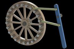 Lever and pawns movement - STEP / IGES,STL,SOLIDWORKS,Parasolid - 3D CAD model - GrabCAD