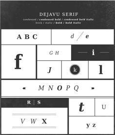 top-notch type // deja vu serif // by verafonts // via emmadime