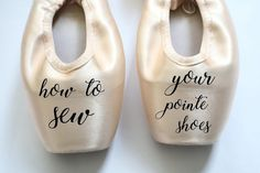 How to sew pointe shoes Pointe Shoes, Ballet Shoes, Ballet Class, Crochet Slippers, Dance Wear, Dancers, Gloves, Teaching, Studio