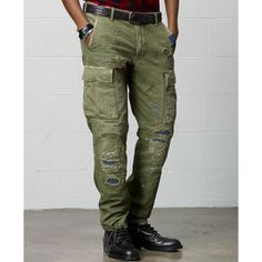 This slim-fitting cargo pant is crafted from 10 oz. Buttoned-flap cargo pockets at the thighs. Very rare and discontinued item. Buttoned-flap welt pockets at the back. Doctor Costume, Discount Mens Clothing, Ralph Lauren, Cargo Jeans, Designer Clothes For Men, Sharp Dressed Man, Denim And Supply, Men Street, Military Fashion