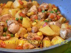 Kuřecí pánev s bramborami Potato Salad, Potatoes, Chicken, Cooking, Ethnic Recipes, Diet, Kitchen, Potato, Brewing