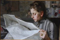 Anders Zorn - Complete understanding of facial planes, the hand and skin tones...not to mention paint application.