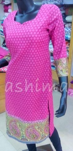 Code:2906162 - Printed Cotton kurti, Price INR:890/-