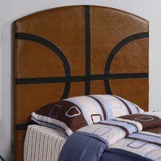 Twin Size Kid Headboard with Basketball Design