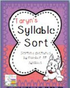 This is a super fun activity to practice counting the number of syllables in a given word.  Included in this product you will find:*36 colored picture cards (1-4 syllables each)*36 colored picture cards with word label*36 black and white picture cards (same as colored)*36 black and white picture cards with word label*4 colored heading cards (for sorting)*4 black and white heading cards (for sorting)*1 blank colored frame sheet (to add your own pictures)*1 black and white frame sheet*1 black ...