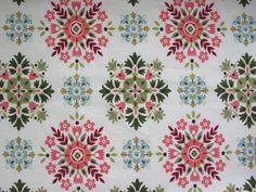 Vintage Fabric ~ 1950's Geometric Snowflakes by Niesz Vintage Fabric, via Flickr