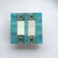 Blue Switch Plate Glass Light Switch Cover Decorative Switch ...