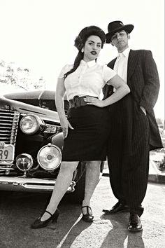 """Mexican couple in 1947, Los Angeles CA. """