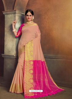 Fab Pink Cotton Silk Saree Saree Blouse, Sari, Indian Beauty Saree, Party Wear Sarees, Indian Ethnic Wear, Beautiful Saree, Blouse Online, Festival Wear, Saree Collection