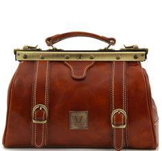Mona Lisa Doctor Leather Bag