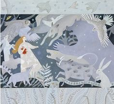 Vasilisa the Beautiful with her magic doll as she faces the terrors of the dark forest, in Anthea Bell's reimagining of the tale, illustrated by Anna Morgunova. Photograph: PR