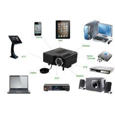 Multimedia LED Projector HD UC28+ Home Theater Mini Portable Projector Support 1080P HDMI AV-in Video VGA HDMI USB SD