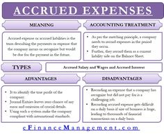 Accrued Expense – Meaning, Accounting Treatment And Accounting Notes, Learn Accounting, Accounting Education, Accounting Basics, Accounting Student, Accounting Principles, Bookkeeping And Accounting, Accounting And Finance, Business Management