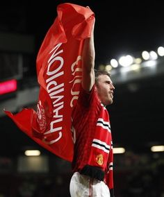 It's Carrick you know! Hard to believe it's not Scholes!