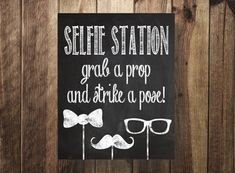 Selfie Station Sign, Grab a Prop Strike a Pose, DIY Photo Booth, Rustic Photo Booth, Party Printable, Wedding Reception, Digital Download