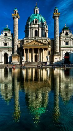 Karlskirche (St. Charles's Church), Vienna, Austria by franzj, via Flickr