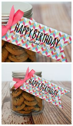 Happy Birthday to one of the SWEETEST people I know! Cute and easy birthday gift ideas. Birthday Tags, Best Birthday Gifts, Diy Birthday, Happy Birthday, Birthday Ideas, Simple Birthday Gifts, Homemade Birthday Gifts, Birthday Week, 20th Birthday