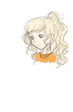 first attempt at a colored non chibi Annabeth XD PJ fandom don't hate me plsss :))))