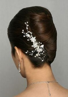 An Upswept Wedding Hairstyle