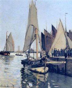Sailing Boats at Honfleur, 1866 // by Claude Monet