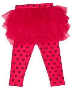 SURFSTITCH - KIDS - GIRLS CLOTHING - PANTS - ROCK YOUR BABY TOTS CIRCUS TIGHTS WITH SKIRT - PINK DOTTED