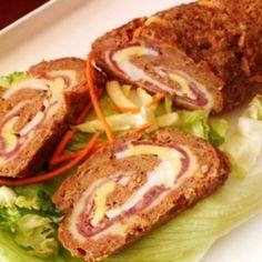 Fóliában sült töltött fasírttekercs | Nosalty Bread Dough Recipe, Sandwiches, Pork, Beef, Recipes, Dios, Kale Stir Fry, Meat, Recipies