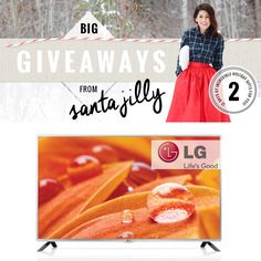On the SECOND day of Christmas....the always amazing LG Canadais gifting to YOU... a 50
