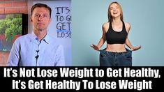 In this video, I talk about this powerful yet simple concept of it's not lose weight to get healthy, it's get healthy to lose weight. Dr Eric Berg, Dr Berg, Weight Loss Results, Fast Weight Loss, Lose Weight, Ketosis Diet, Ketogenic Diet, Keto Fast, Shake Diet