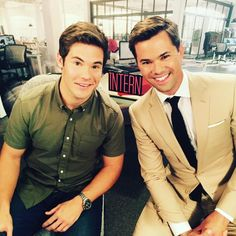 We had a full day of talking about ourselves and all things #TheIntern. My Omaha brother, #ADAMDEVINE | #repost from Andrew Rannells