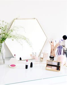 STYLECASTER | storage | organization | storage ideas | makeup storage | makeup organization | sophies makeup | 20 Truly Innovative (and Instagrammable) Ways to Store Your Beauty Products
