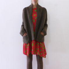 Daniela Gregis shawl neck hand knitted cardigan