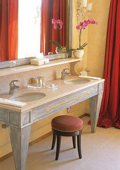 estudo de tons toscanos e estilo para decoraçao