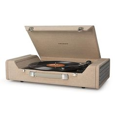 Take your musical journey anywhere with the Nomad USB portable Turntable from Crosley. With a vintage briefcase style design, the Nomad allows you to easily take your music on the go. This portable Turntable features built-in stereo speakers, Crosley Record Player, Record Players, Radios, Arcade, Usb Turntable, Built In Speakers, Stereo Speakers, Best Gifts For Men, Vinyl Records
