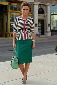 how to wear grean and pink2 by KristinaJ., via Flickr