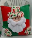 Мобильный LiveInternet Новогодние подушки - со снеговиком и Санта Клаусом | Марриэтта - Вдохновлялочка Марриэтты |