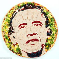 Barack Obama pizza - Prudence Staite