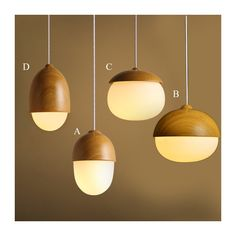 Buy Modern Simple Fashion Wooden Glass Pendant Light 4 Designs Dining Room Lighting Ideas Living Room Bedroom Lighting with Lowest Price and Top Service!